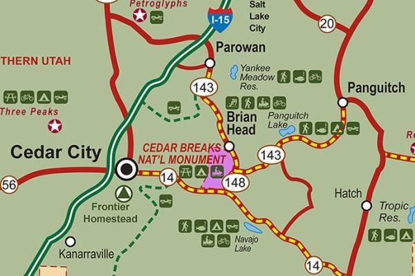 Directions Transportation Cedar Breaks National