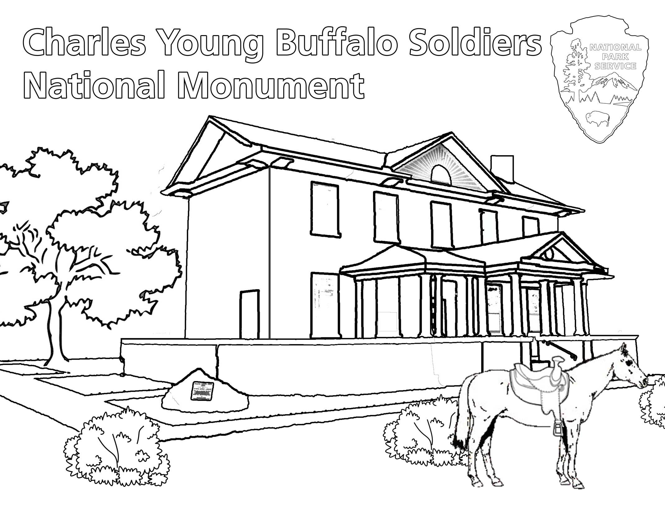 Charles Young Buffalo Sol Rs Coloring Book