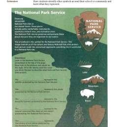National Park Service Symbols - Teachers (U.S. National Park Service) [ 2200 x 1700 Pixel ]