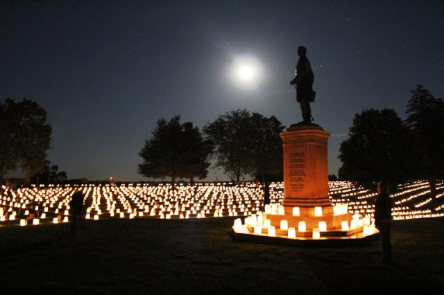 Fredericksburg National Cemetery Illumination