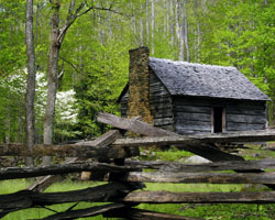 Jim Bales Cabin on the Roaring Fork Motor Nature Trail