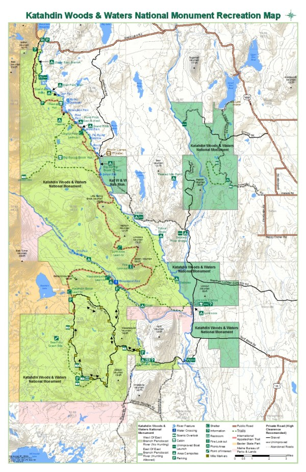 Maps Katahdin Woods and Waters National Monument US