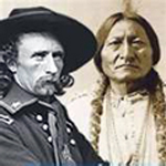 Lt. Col. G.A. Custer and Chief Sitting Bull