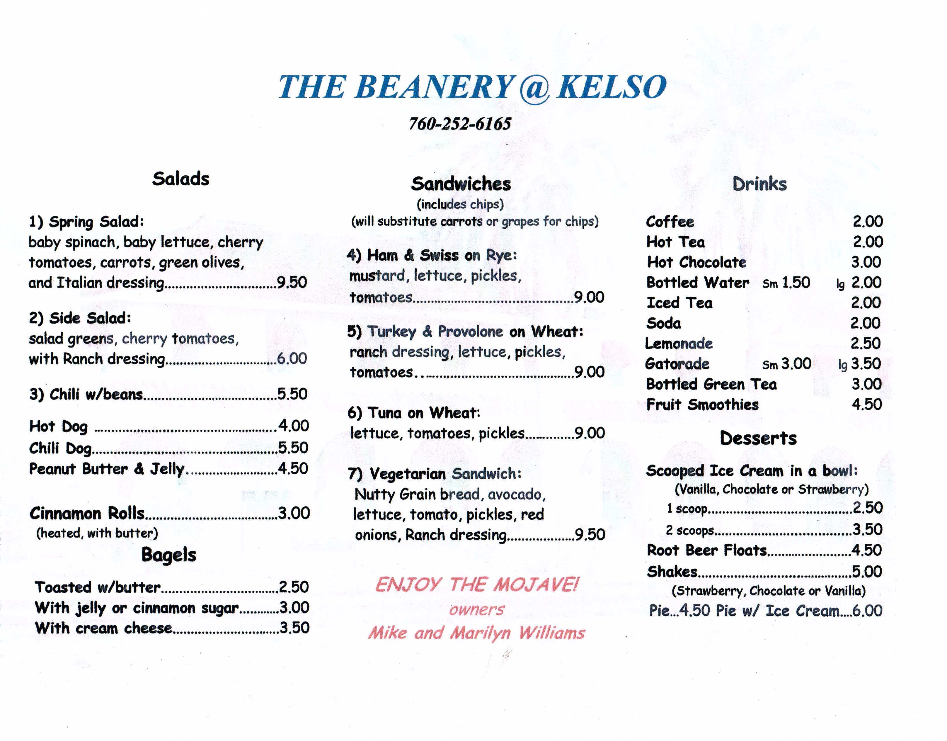 The Beanery at Kelso  Mojave National Preserve US National Park Service