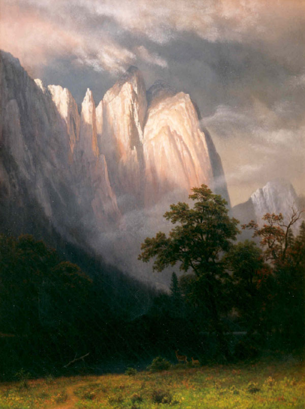 Landscape Art Oil Painting Yosemite National Park