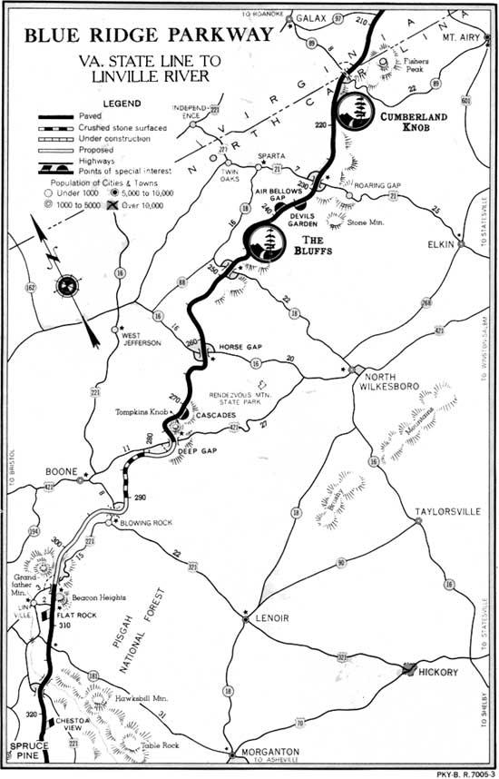 Blue Ridge Parkway: Guide Book (1949)