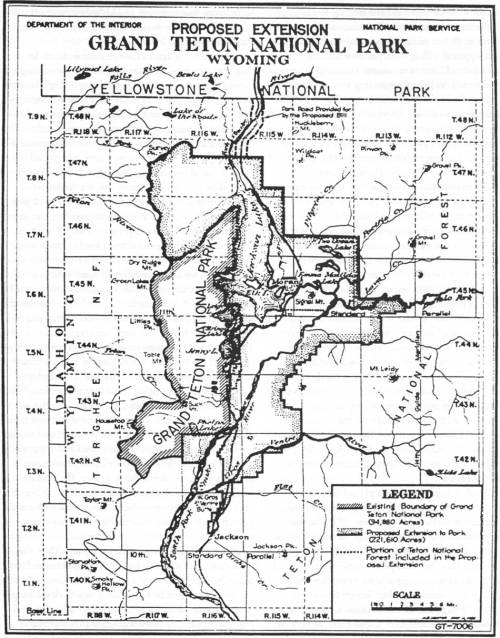 small resolution of proposed extension grand teton national park 1938 click on image for an enlargement in a new window national park service