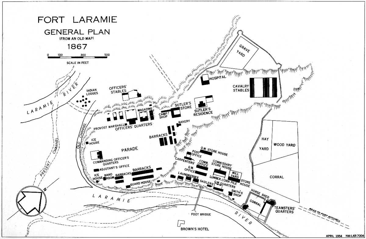 Map Of Fort Laramie