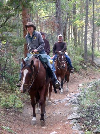 Horseback Riding  Rocky Mountain National Park US