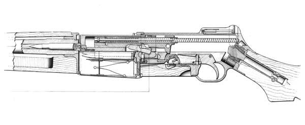 m1 rifle diagram 70v volume control wiring experimental semi automatic rifles by john garand 1919 1936 view of the m1921 blue print drawing