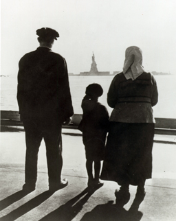 National Park Service image of Three immigrants