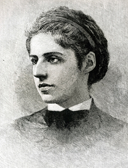 A portrait of Emma Lazarus.