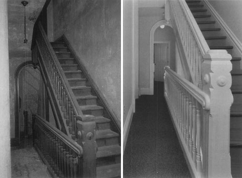 Stair In Hall And Ascending To Another Floor After Rehabilitation