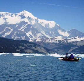Sea Kayaking in Icy Bay  Wrangell  St Elias National