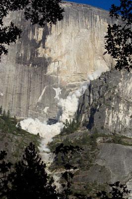 Rockfall - Yosemite National Park (U.S. National Park Service)