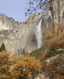 Upper Yosemite Fall in autumn