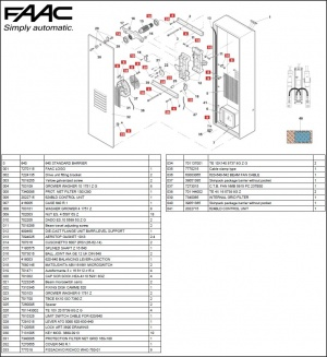 aiphone wiring diagram 98 honda civic ignition switch faac 640 exploded diagrams - new parking solutions ltd