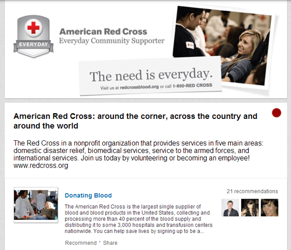 Red Cross on LinkedIn