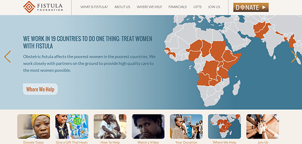 fistula foundation new responsive website