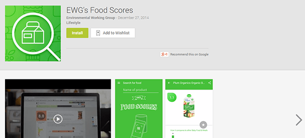 Food Score google play