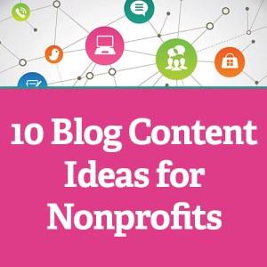 10 Blog Content Ideas for Nonprofits Facebook