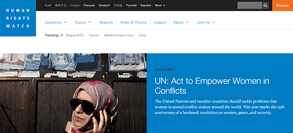 Human Rights Watch 2015