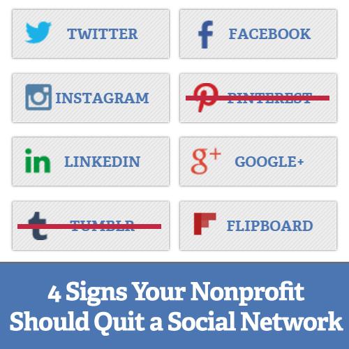 4 Signs Your Nonprofit Should Quit a Social Network