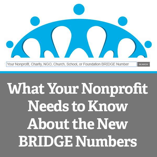 What Your Nonprofit Needs to Know About the New BRIDGE Numbers