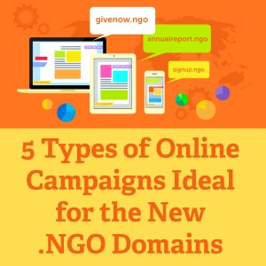 5 Types of online campaigns ideal for the new .NGO domains facebook