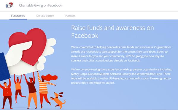 facebook donations