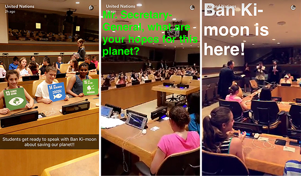 United Nations on Snapchat