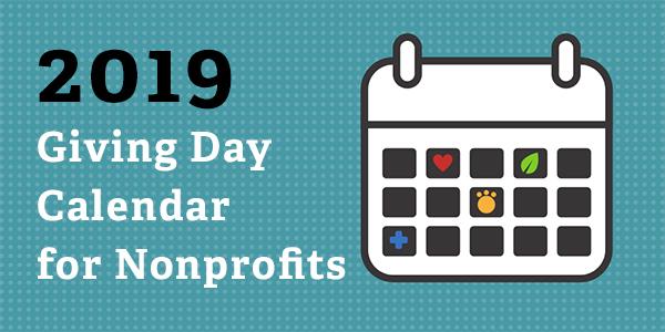 2019 Cause Awareness & Giving Day Calendar for Nonprofits