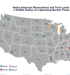 native american reservations and trust lands within a 50 mile radius of a nuclear power [ 1080 x 810 Pixel ]