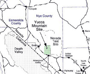 NRC: Location of Yucca Mountain