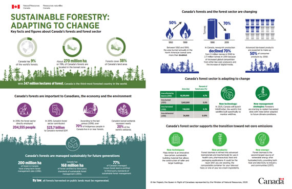 Sustainable forest management, also known as sustainable forestry, is the practice of regulating forest resources to meet the needs of society and industry. Infographics