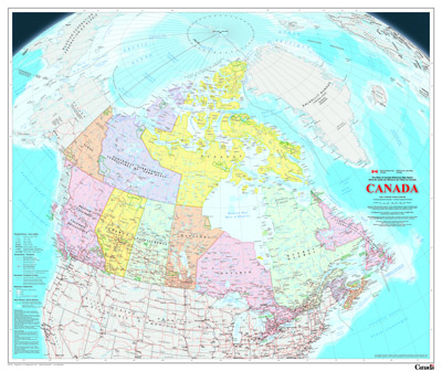 Wall Maps Natural Resources Canada