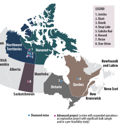 diamond mines and advanced projects in canada 2017 [ 1300 x 700 Pixel ]