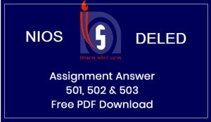 Nios DelEd Assignment Answer