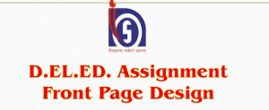 NIOS DElEd Assignment Cover Page, Front Page & Sample Download