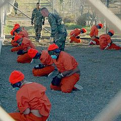 Detainees at Guantanamo, 2002