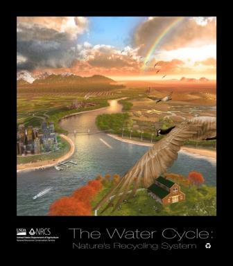 Water Cycle poster formerly available through NRCS of USDA.