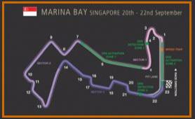 Gran Premio Singapur @ Circuito Marina Bay 43 vueltas