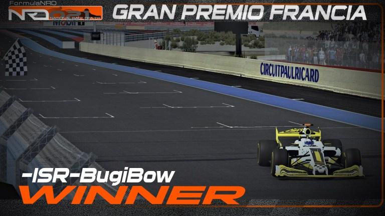 -ISR-BugiBow se corona en Francia y se lleva su 1º victoria en la NRD!