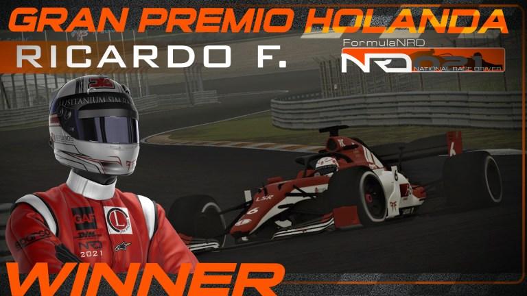 GP Holanda, Ricardo F. presiona, Peugeot despierta, javibeza aguanta.