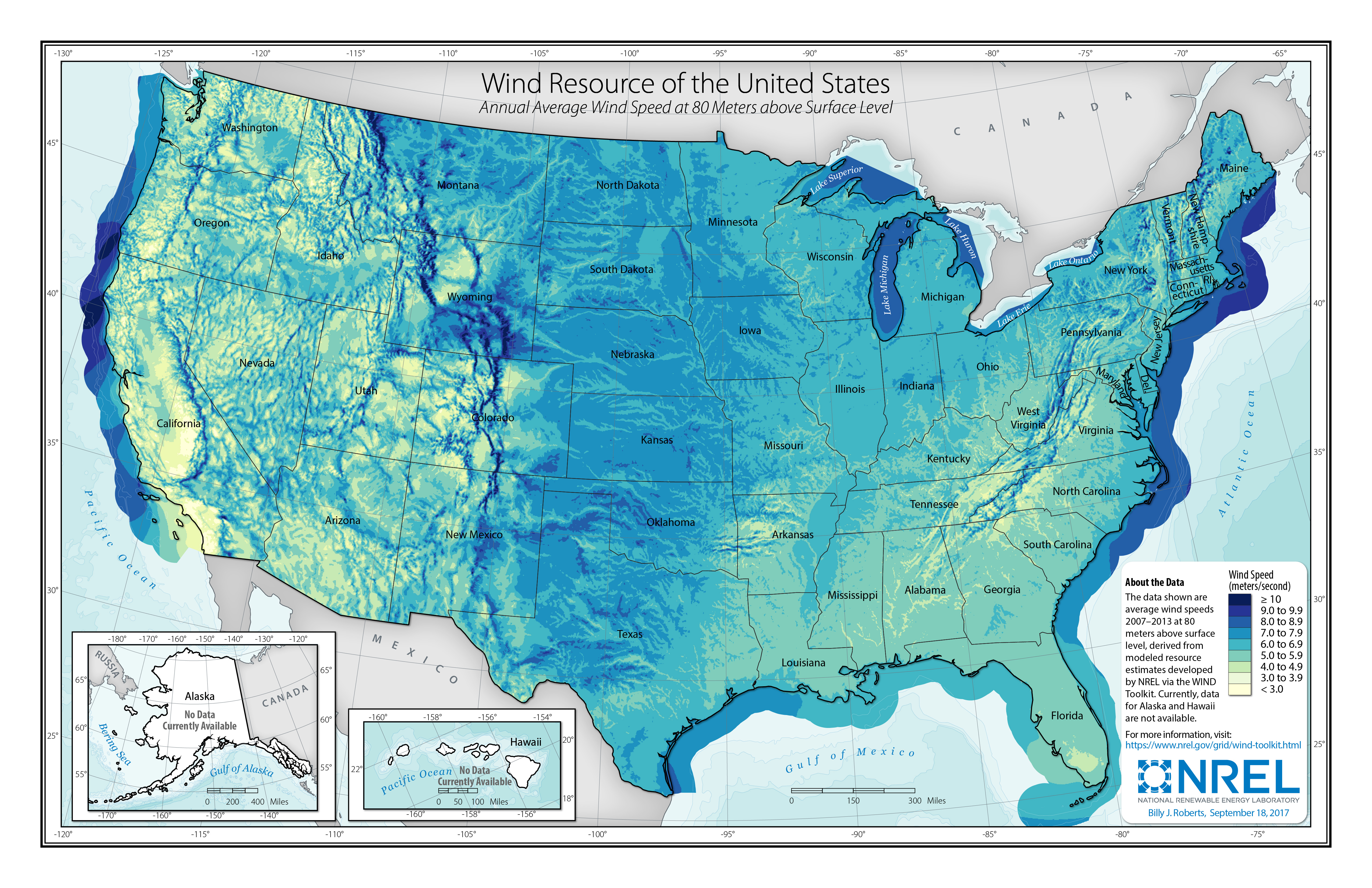 Wind Resource Data Tools And Maps