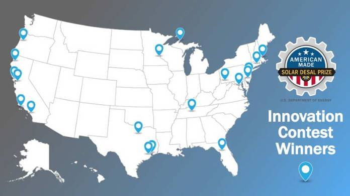 A map of the United States with pinpoints at various cities across the country.