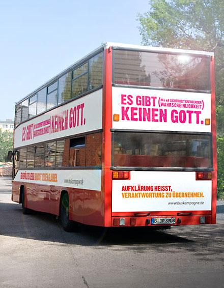 Der Atheistenbus auf dem Weg durch Deutschland
