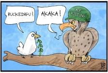 Afbeeldingsresultaat voor AKK kriegsministerin cartoon