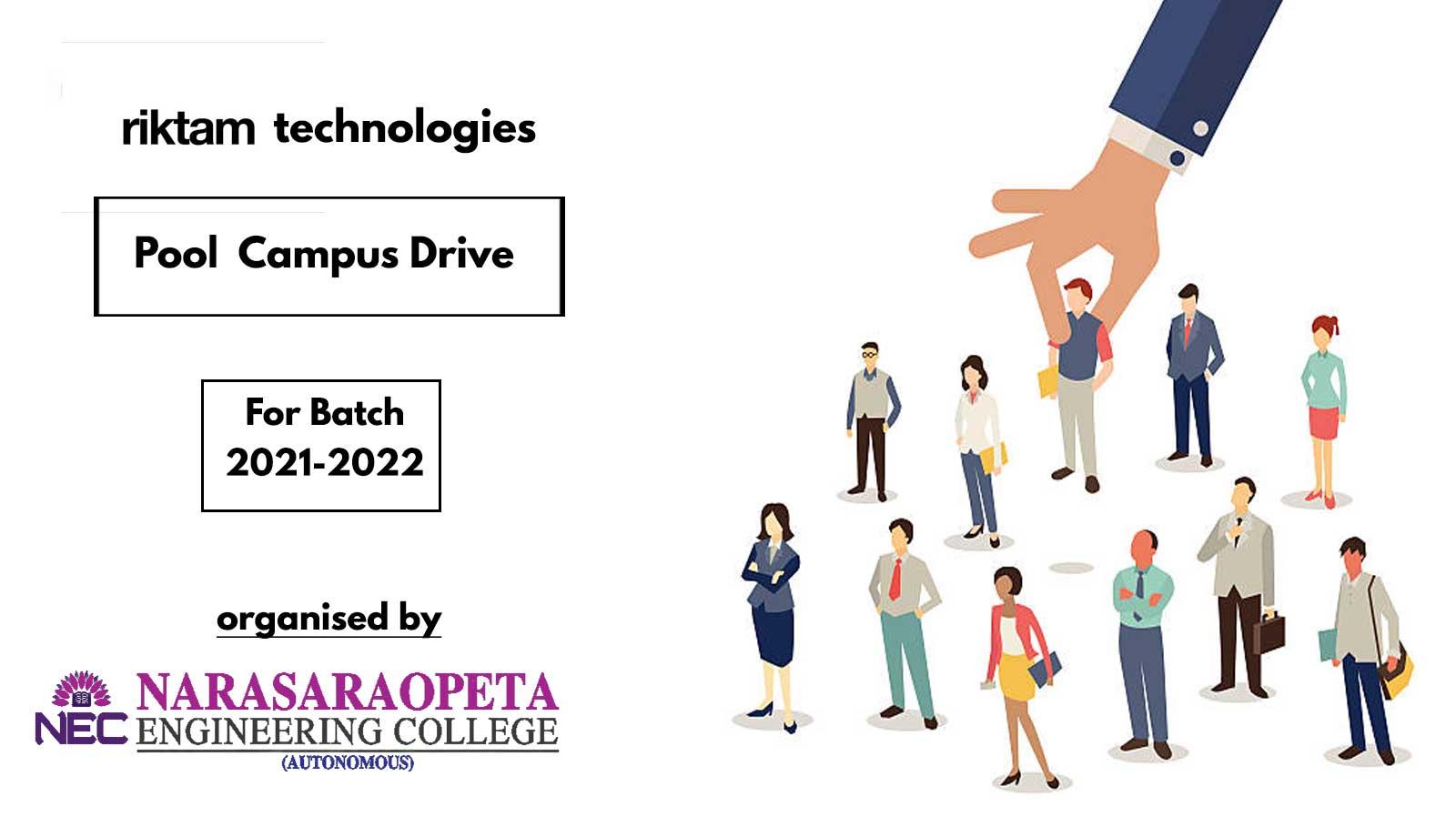 Riktam Technology campus Drive Details and Registration link