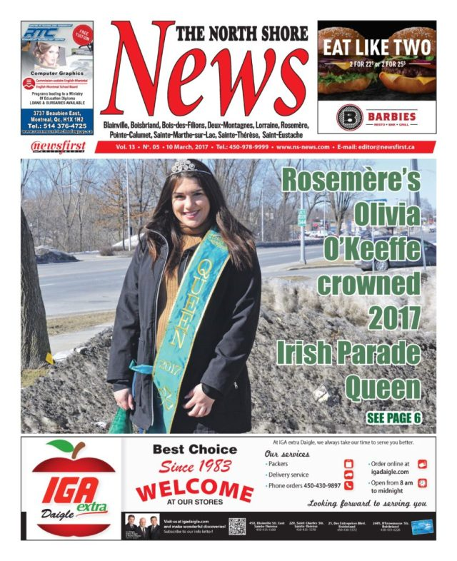 Front page image of the North Shore News Volume 13-5